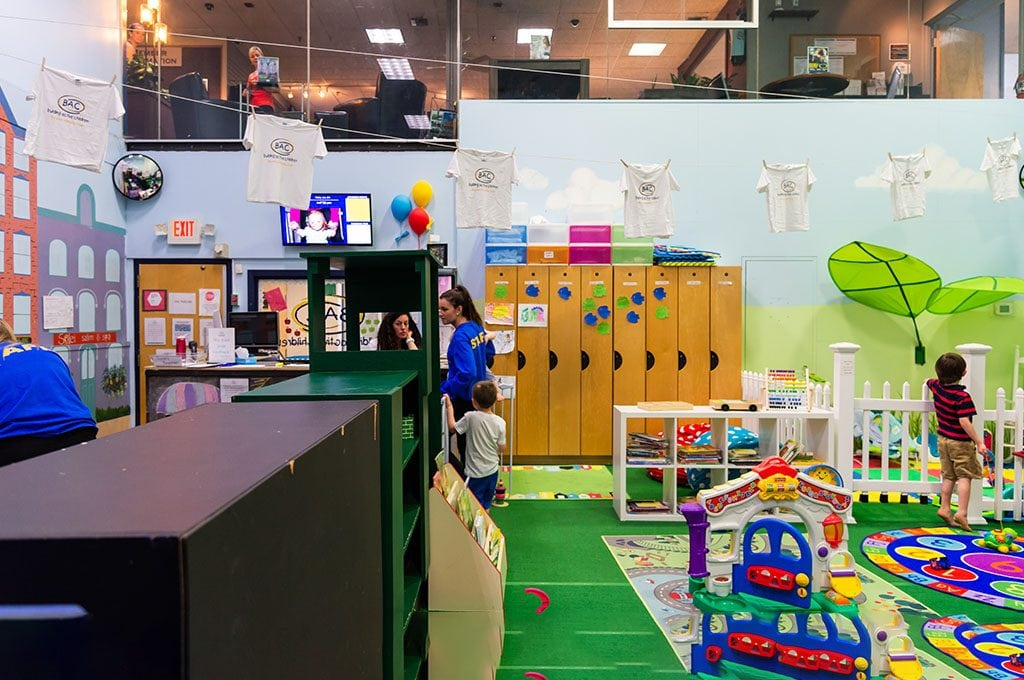childcare area at gym