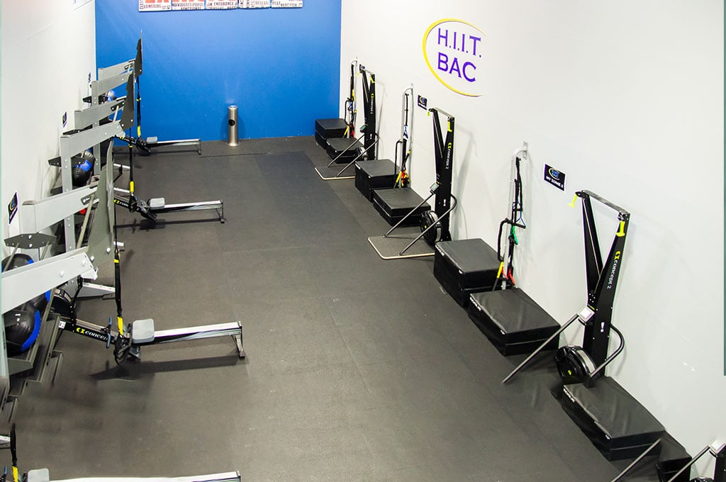 Beverly Athletic Center HIIT room with various circuit training equipment