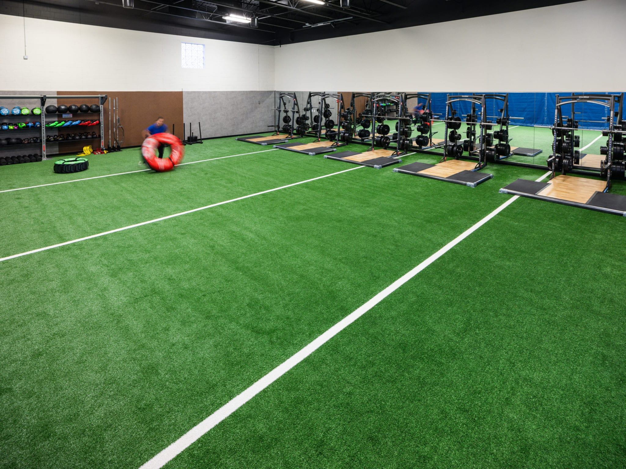 green turf at modern padonia gym
