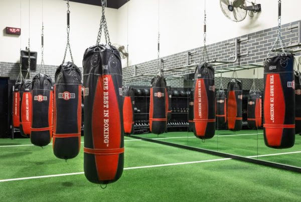 boxing area at padonia gym