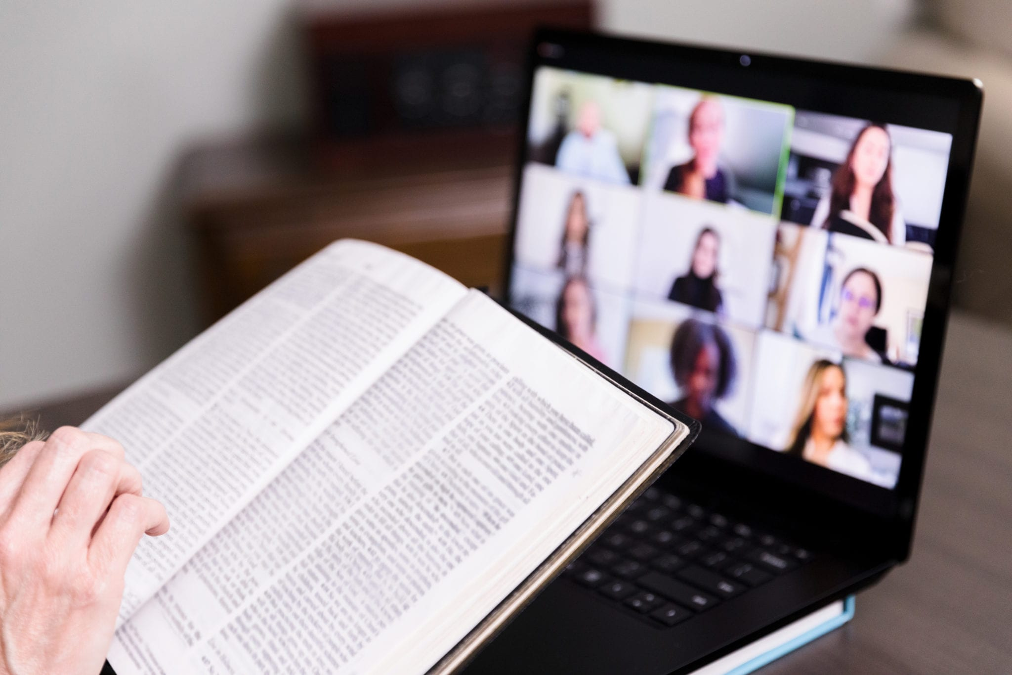 Unseen person joins Bible study through video conferencing